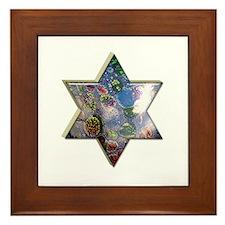 Jewish Star Framed Tile