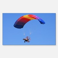 Colorful Powered Parachute Rectangle Decal