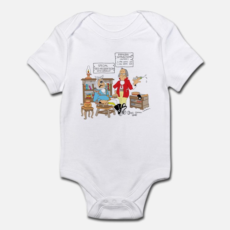 Free wooden teeth with haircu Infant Bodysuit