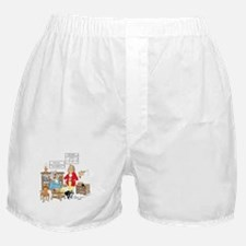 Free wooden teeth with haircu Boxer Shorts