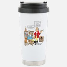 Free wooden teeth with haircu Travel Mug