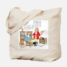 Free wooden teeth with haircu Tote Bag