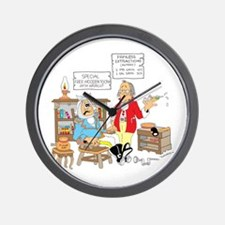 Free wooden teeth with haircu Wall Clock