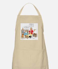 Free wooden teeth with haircu BBQ Apron