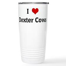 I Love Dexter Cows Travel Mug