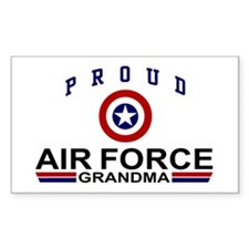 Proud Air Force Grandma Rectangle Decal