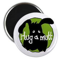 Hug a Mutt Logo Magnet