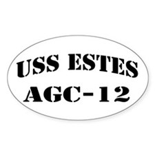 USS ESTES Oval Decal