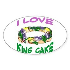 King Cake Party Oval Decal
