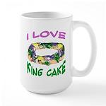 King Cake Party Large Mug