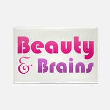 Just Beauty and Brains Rectangle Magnet (10 pack)