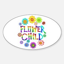 Flower Child Oval Decal