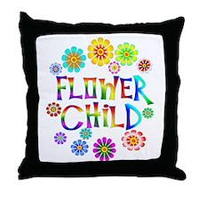 Flower Child Throw Pillow