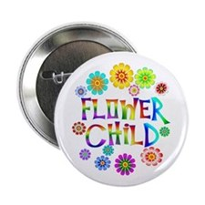 "Flower Child 2.25"" Button"