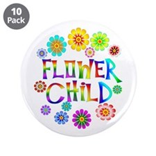 "Flower Child 3.5"" Button (10 pack)"
