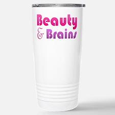 Just Beauty and Brains Travel Mug