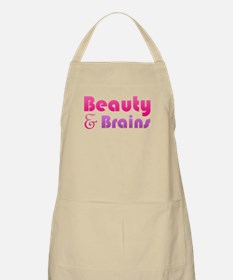 Just Beauty and Brains BBQ Apron