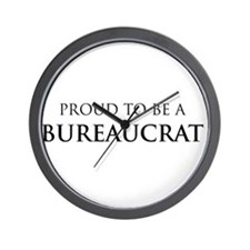 Proud Bureaucrat Wall Clock