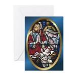 Manger Stained Glass Greeting Cards (Pk of 10)