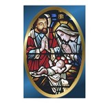 Manger Stained Glass Postcards (Package of 8)