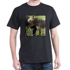 Baby Mini Donkey Hug Black T-Shirt