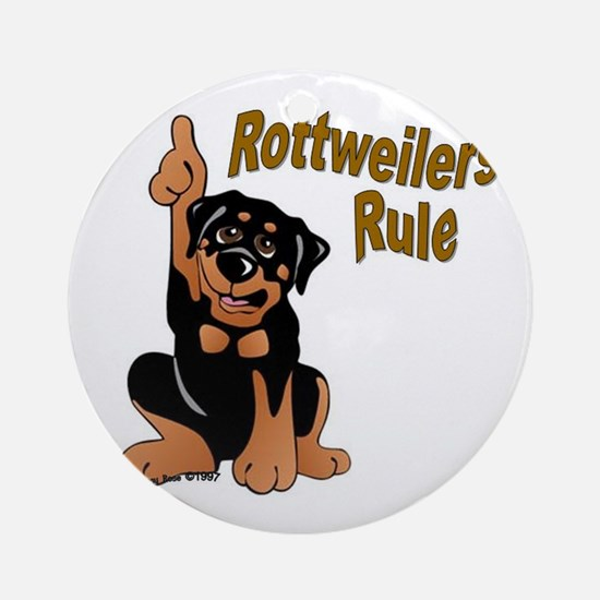 Rottweilers Rule Ornament (Round)