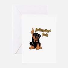 Rottweilers Rule Greeting Cards (Pk of 10)