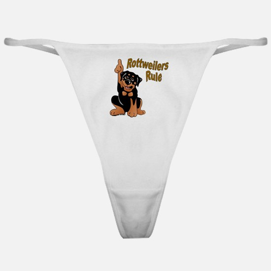 Rottweilers Rule Classic Thong
