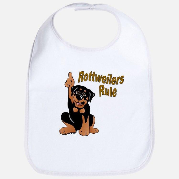 Rottweilers Rule Bib