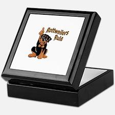 Rottweilers Rule Keepsake Box