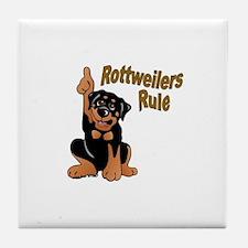 Rottweilers Rule Tile Coaster