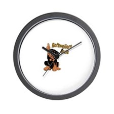 Rottweilers Rule Wall Clock