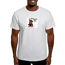 Rottweilers Rule Ash Grey T-Shirt