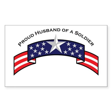 Proud Husband of a Soldier St Rectangle Sticker