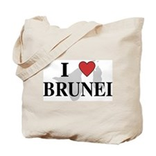 I Love Brunei Tote Bag