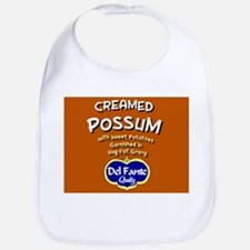 Bib with our creamed possum label
