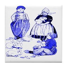 Dutch Children Blue Tile