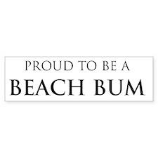 Proud Beach Bum Bumper Bumper Sticker