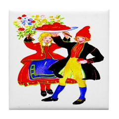 Dutch Children Tile Coaster