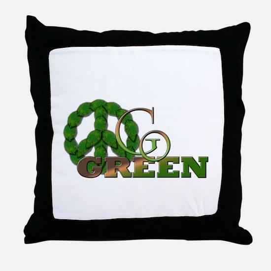 Go Green 2 Throw Pillow