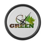 Go Green 3 Large Wall Clock