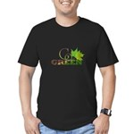 Go Green 3 Men's Fitted T-Shirt (dark)
