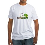 Go Green 3 Fitted T-Shirt