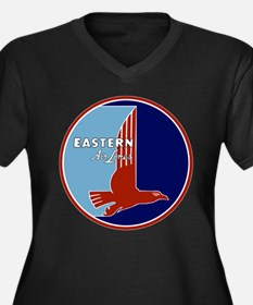 Vintage Eastern Air Lines Women's Plus Size V-Neck