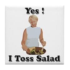 Toss the salad Tile Coaster