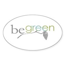 BeGreen3 Oval Decal