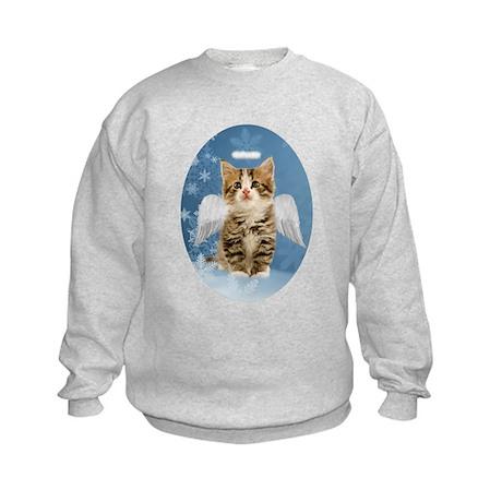 Angel Kitten Kids Sweatshirt
