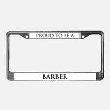 Proud Barber License Plate Frame