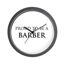 Proud Barber Wall Clock