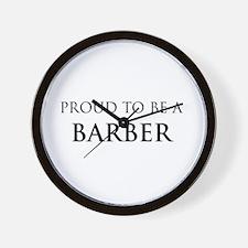 Proud Barber Wall Clock